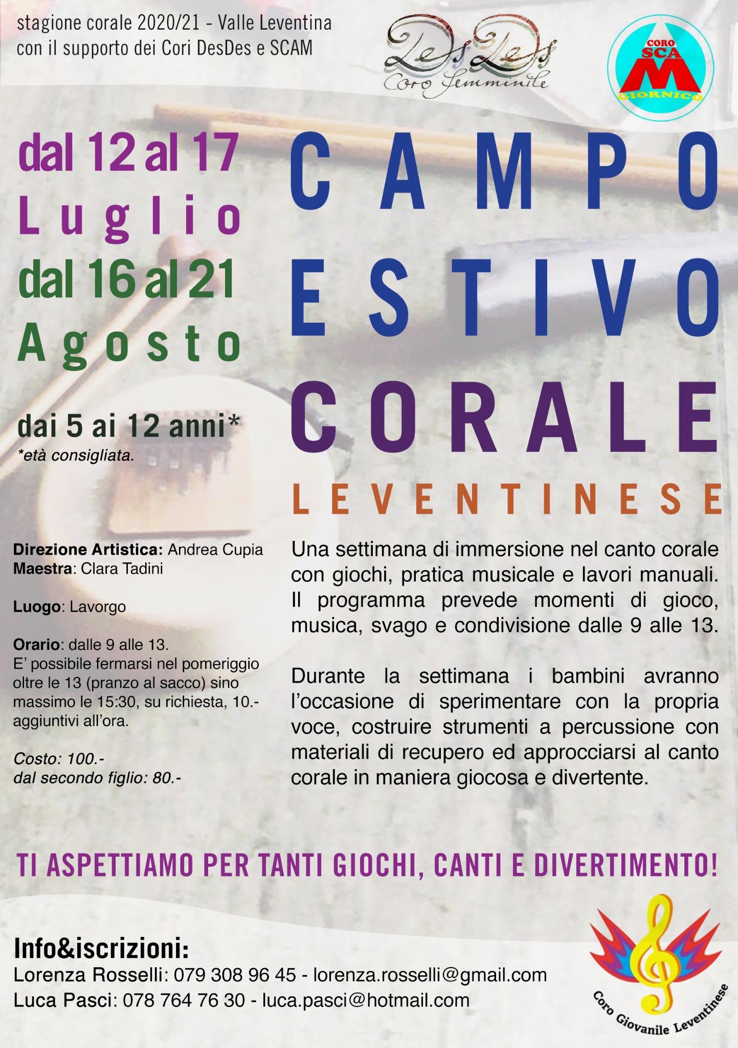 Campo estivo Corale Leventinese